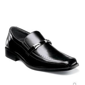 "NIB Stacy Adams ""Cade"" black leather dress shoes"